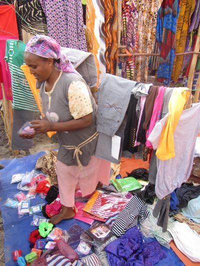 Vaatteiden myyjä Etiopia